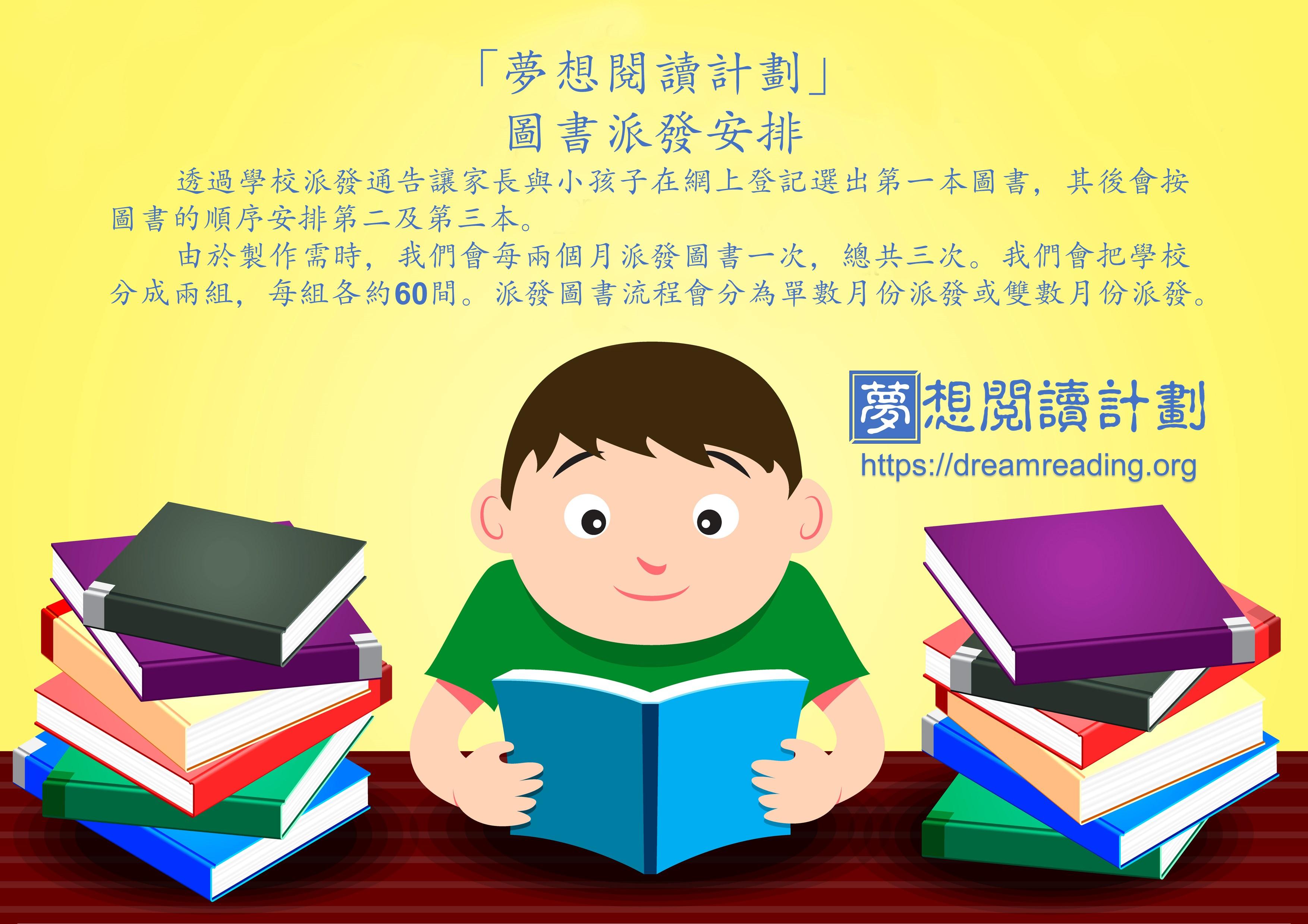 「夢想閱讀計劃」圖書派發安排