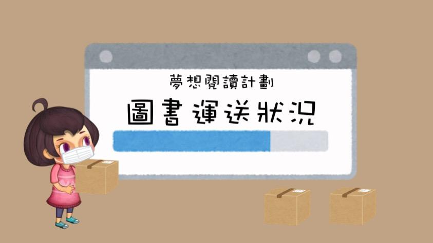 夢想閱讀計劃-圖書運送狀況(8/6-12/6)